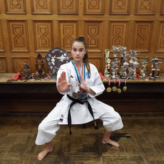 Ballard pupil selected as an English Karate Federation's England Squad Athlete and wins two gold medals in the same week.