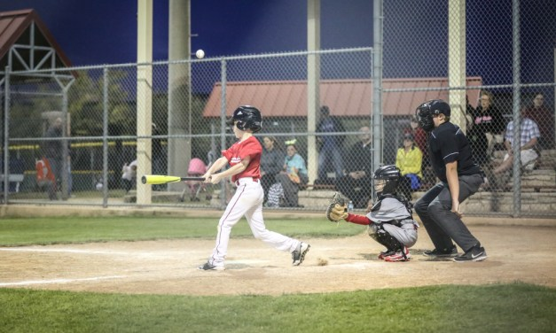 Under the Lights…A Tough Shot for this Beginner