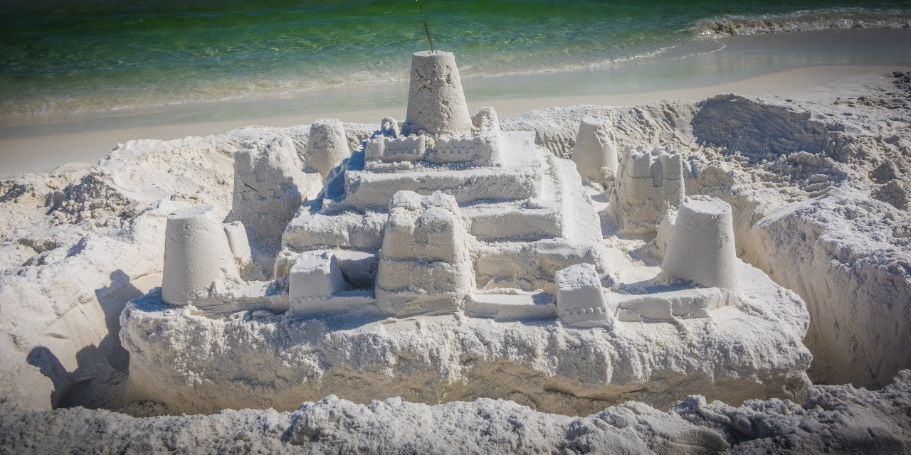 Building Sand Castles…  An Activity I Happily Pass On To Daddy…
