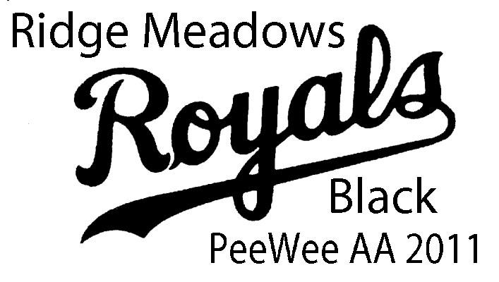Ridge Meadows Royals Black PeeWee AA 2011 baseball HOME