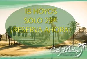Golf en Costa Ballena 18 hoyos por 29€