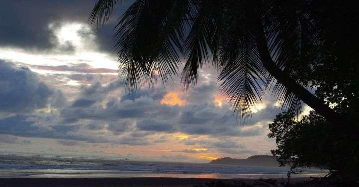 Sunset at Colonia Beach, Parque Nacional Marino Ballena, Costa Rica