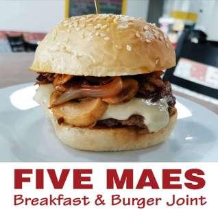 Five Maes Burger Restaurant BoxAd