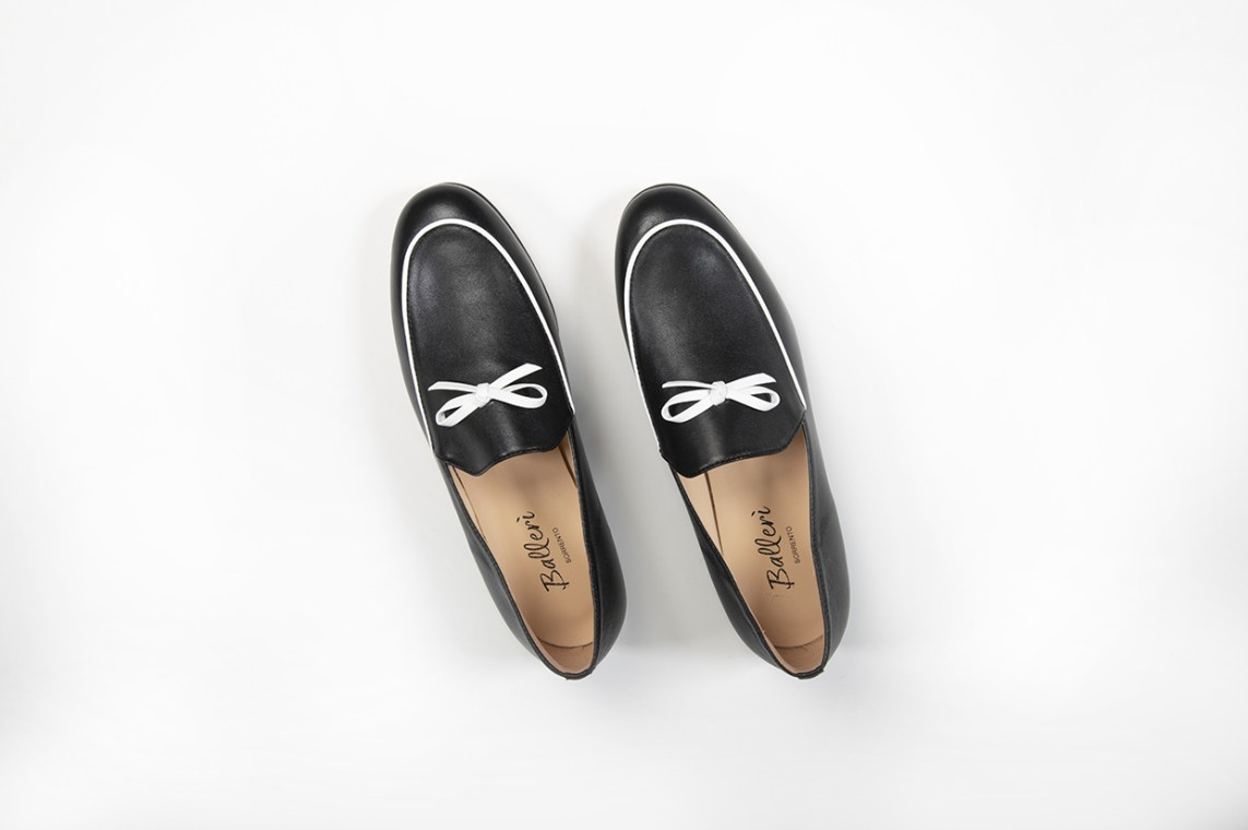 Black Leather Milano Loafer