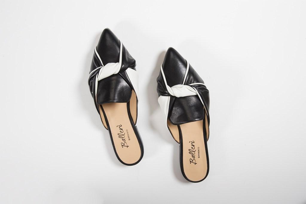 Cora slipper in Black and White