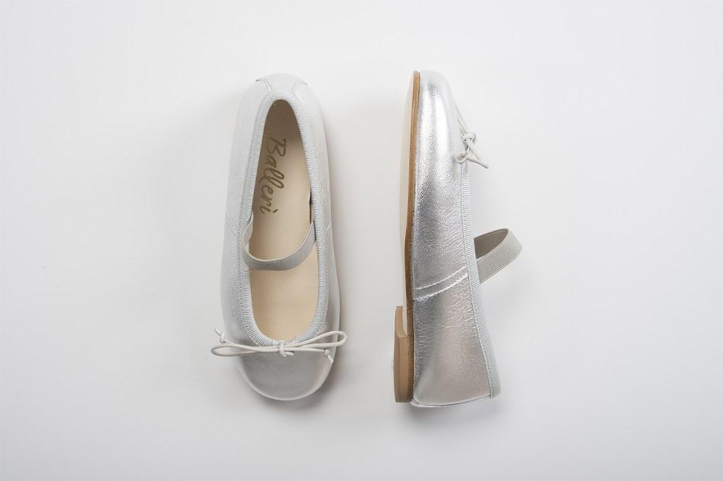 Silver Leather Iris Baby Ballerina - 2