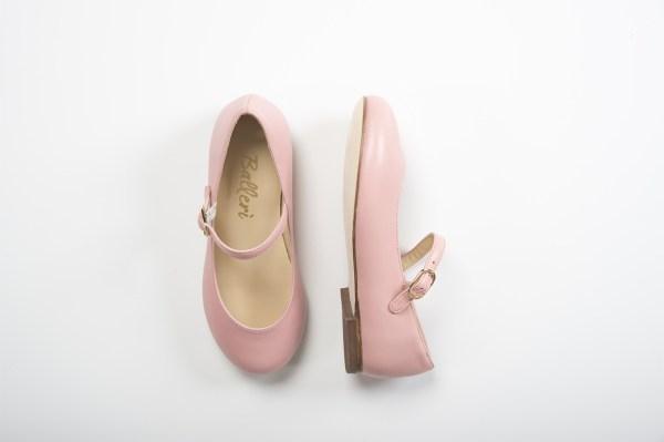Ballerina bambina a punta tonda Lea Pelle Cipria - 2