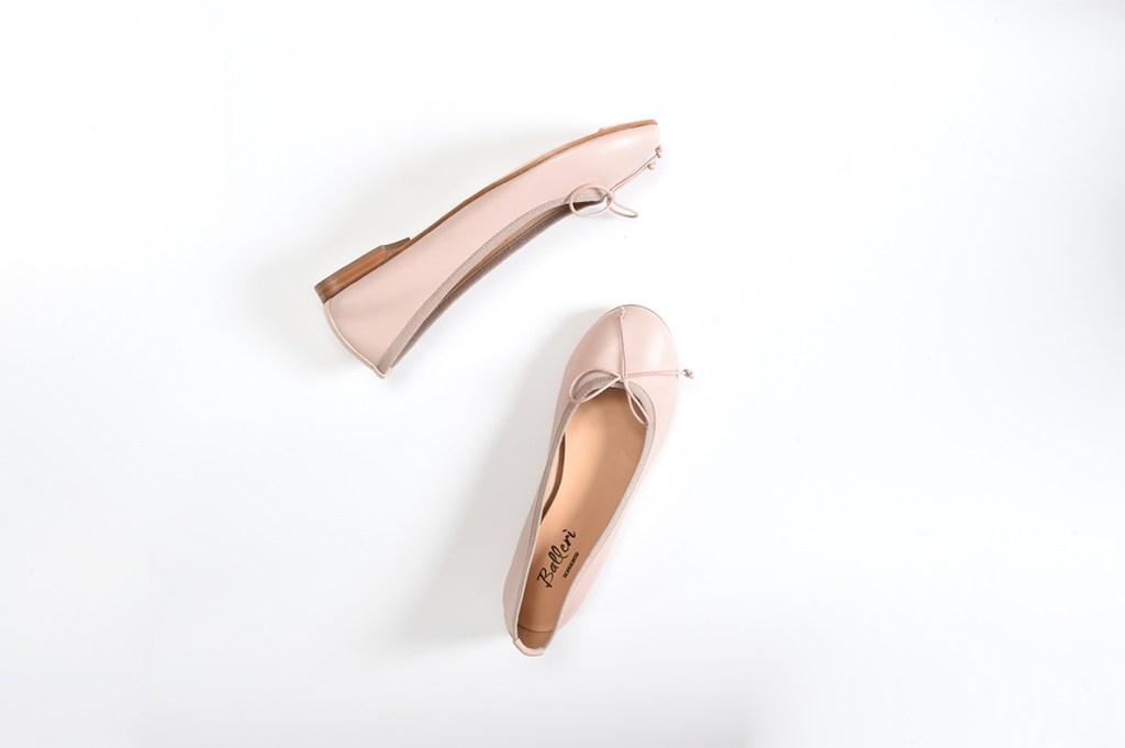 Pink Leather Carla Ballerina - 2