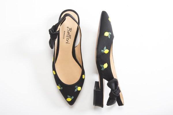 Exclusive Capri Collection - Ballerina a punta JK Raso Nero - 2