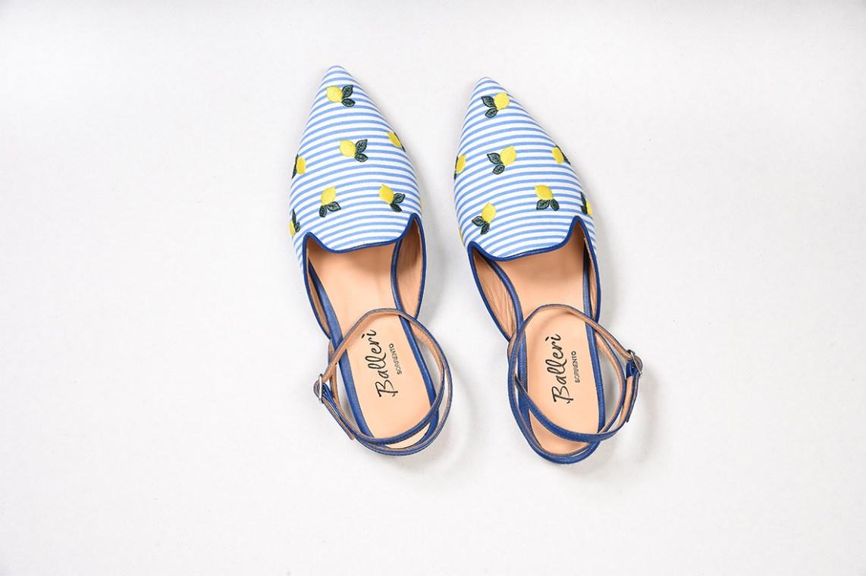 Light Blu Stripes Sorrento Slipper
