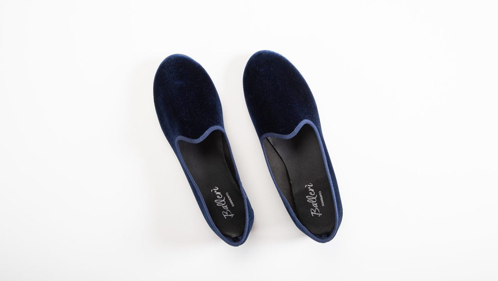 Slipper Venezia Velluto Blu
