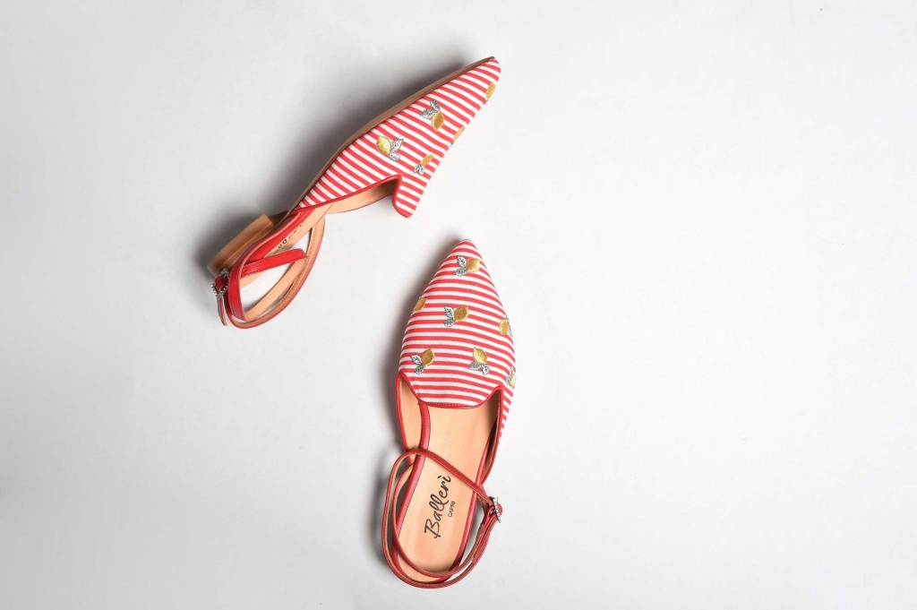 Exclusive Capri Collection - Red Stripes Audry Slipper - 2