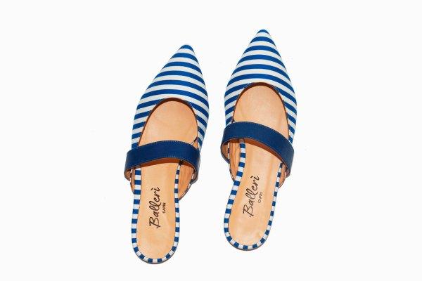 Exclusive Capri Collection – Slipper Faro Righe Bluette