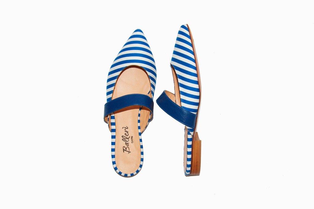 Exclusive Capri Collection – Slipper Faro Righe Bluette - 2