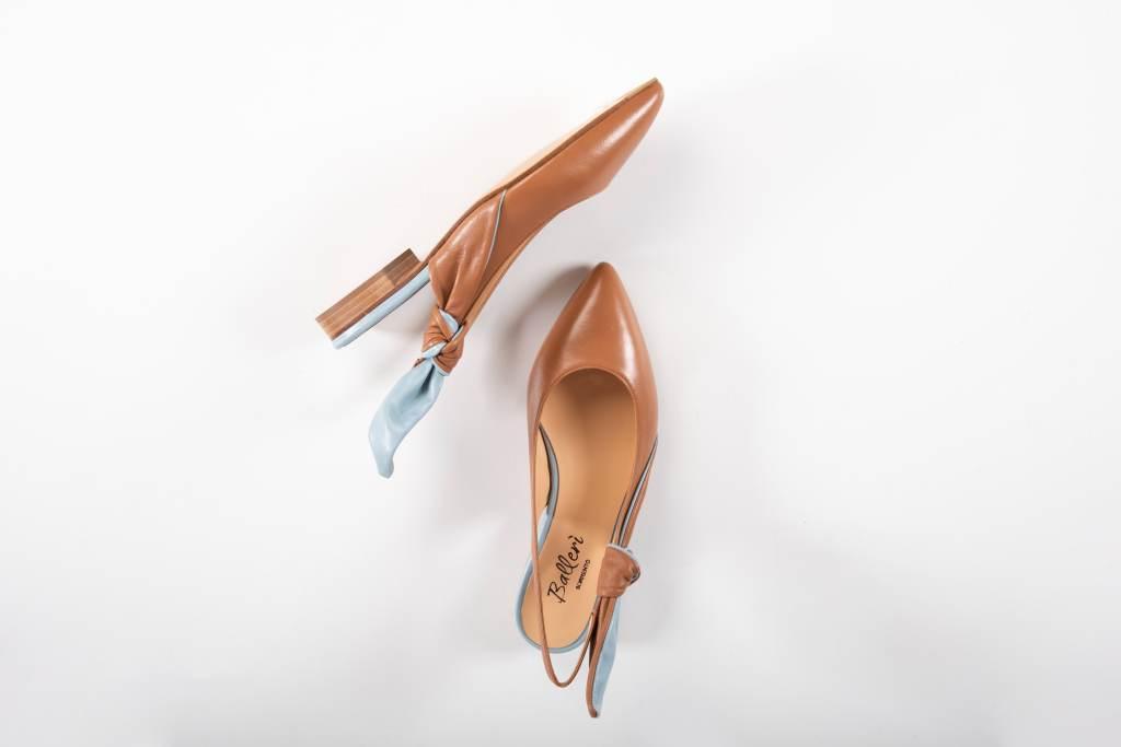 Ballerina a punta Atena Pelle Cuoio/Polvere - 2