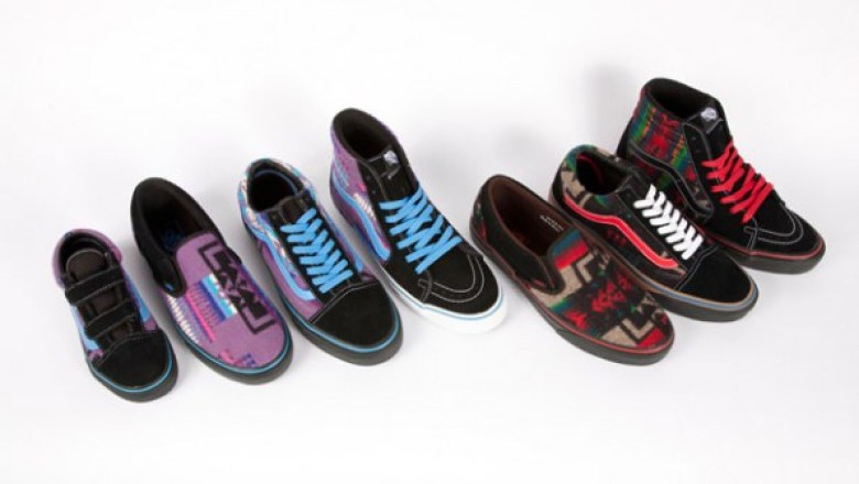 962882743d Vans teamed up with Native non-profit Nibwaakaawin in late April for a  collaborative series of sneakers created to coincide with the 2012 All  Nation Skate ...