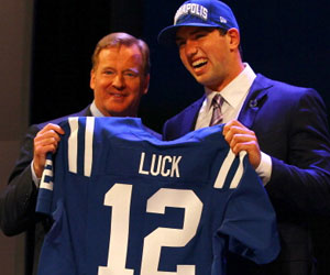 Andrew Luck drafted no 1 by the Colts
