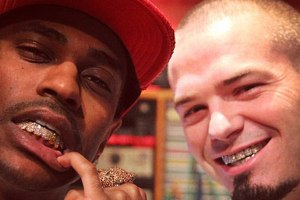 Big Sean gets a grill by Paul Wall