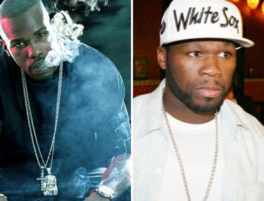 Slim The Mobster (left) and 50 Cent (right)