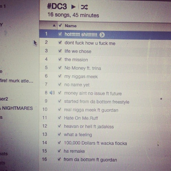 Meek Mill - Dreamchasers 3 Tracklist