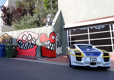 Chris Brown's mural on his Hollywood Hills home.