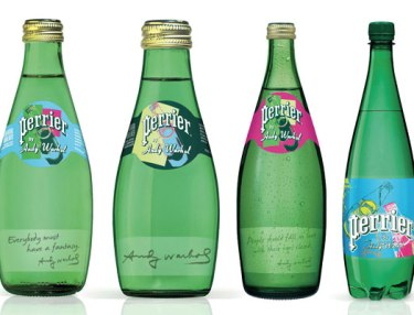 Limited Perrier By Andy Warhol bottles