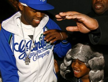 50 Cent and son Marquise