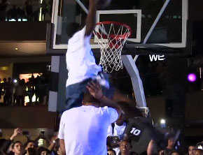 West Coast Dreamers' Young Hollywood Dunks Over Blake Griffin (Video)
