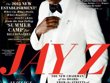 Jay Z cover of Vanity Fair November 2013 issue