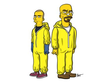 'Breaking Bad' Characters Simpsonized By Adrien Noterdaem