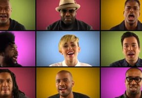 Miley Cyrus, The Roots & Jimmy Fallon Sing 'We Can't Stop'