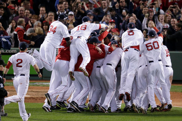 Boston Red Sox Win 2013 World Series At Fenway