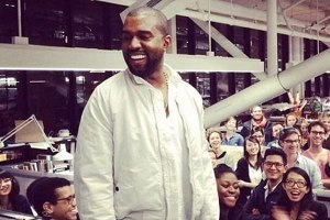 Kanye West speaks at Harvard Graduate School of Design.