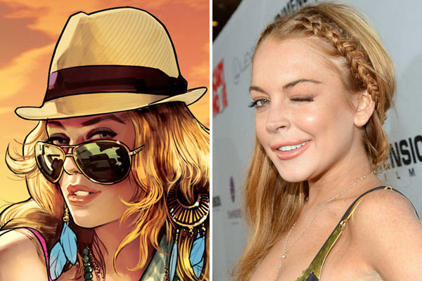 Linday Lohan and GTA V character Lacey Jonas
