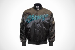 Starter Chicago Bulls 'Black and Blue' Satin Jacket