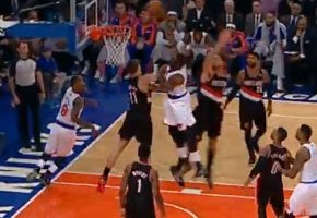 J.R. Smith Sets Up Amar'e For The Jam
