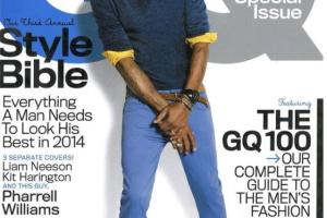 Pharrell covers April 2014 GQ cover