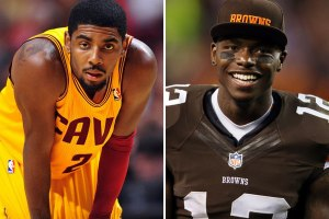 Kyrie Irving and Cleveland Browns receiver Josh Gordon