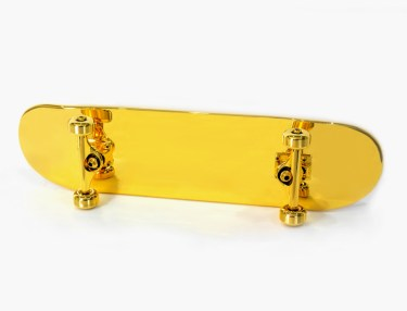 SHUT $15K Gold-Plated Skateboard