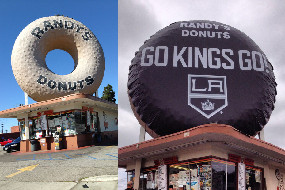 Randy's Donuts transforms landmark to support L.A. Kings