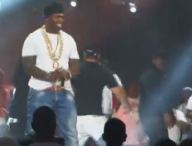 Slowbucks jumped during 50 Cent's Summer Jam performance