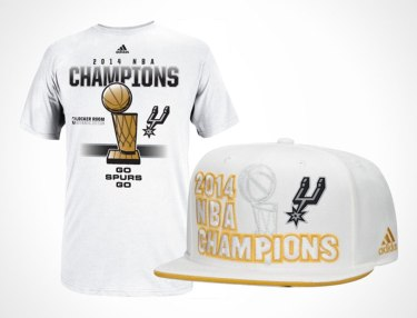 NBA x Adidas 2014 San Antonio Spurs Champion Merch