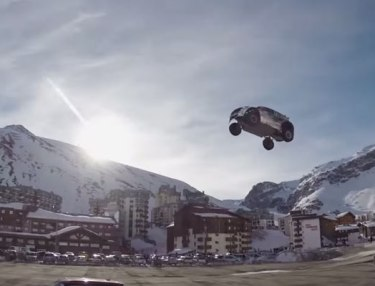 Guerlain Chicherit Attempts World's Longest Car Jump