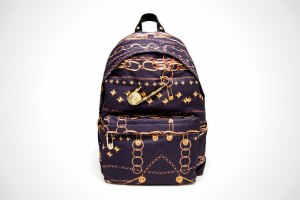Versus Gold Chain Printed Backpack