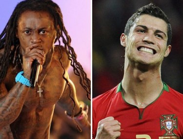 Lil Wayne and Christiano Ronaldo