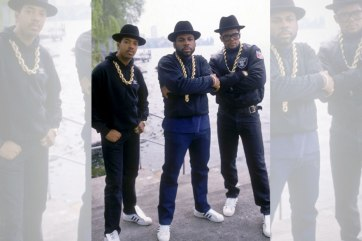 Hip-hop legends Run-DMC wearing classic Levi's.