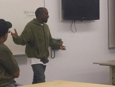 Kanye West at Los Angeles Trade Technical College
