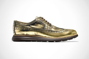 Cole Haan Original Grand Wingtip Gold