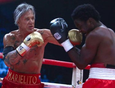 Mickey Rourke beats Elliot Seymour