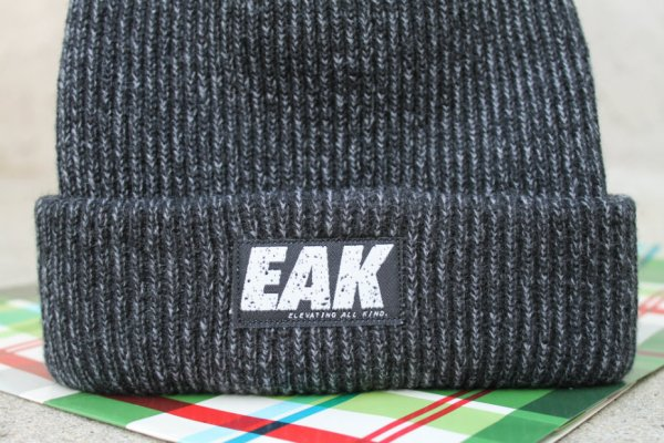 Elevating All Kind: Black Steel Knit Beanie